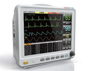 12.1 Inch High Resolution Color LCD Patient Monitor With 6 Standard parameters ECG, RESP, NIBP, SPO2, 2-TEMP, PR/HR