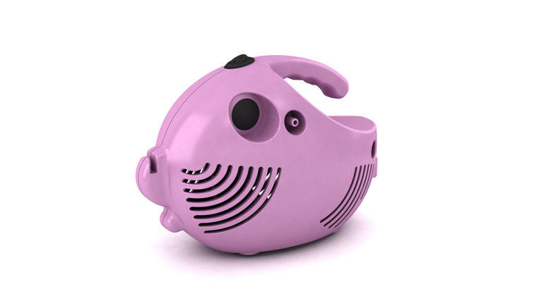 Kid Oxygen Concentrator Humidifier , Pink Fish Shape Cartoon Nebulizer