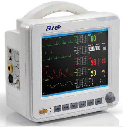 8 Inch Color TFT LCD Display Patient Monitor With Multi-lead ECG Waveforms Display in Phase 6 Standard Parameters