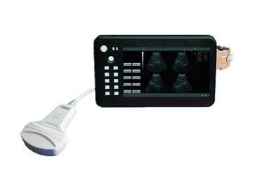 Máquina de diagnóstico ultrasónica del uso del PDA de la palma del analizador humano del ultrasonido con el conector de la punta de prueba de la pantalla 1 de 7 pulgadas