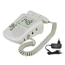 ritmo cardíaco fetal del auricular y del altavoz del acumulador alcalino 9V Doppler con el auricular y el altavoz de la pantalla LCD color